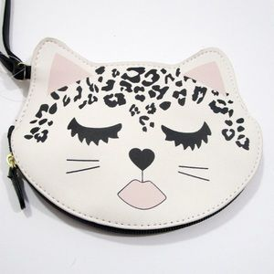 NWT Betsey Johnson Luv Betsey Leopard Kitty Coin